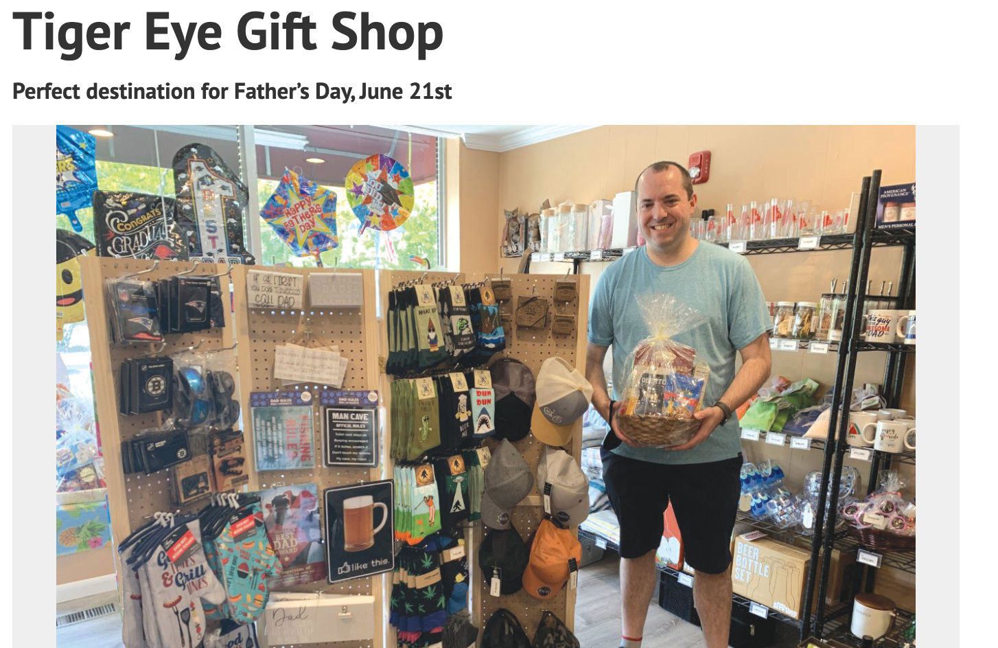 [CREDIT: Warwick Beacon] Tiger Eye Gift Shop was recently featured in the Warwick Beacon.